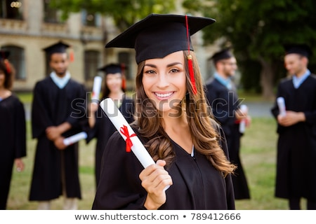 Graduation Girl Stock photo © keeweeboy