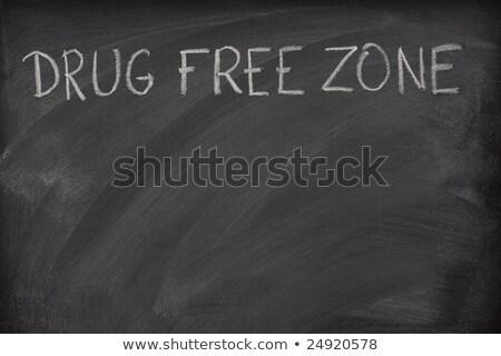 drog · szabad · szöveg · iskola · iskolatábla · fehér - stock fotó © PixelsAway