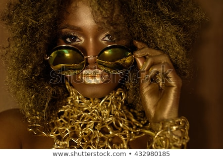 Portrait of an African American Black Woman With Big Hair Stock photo © tobkatrina