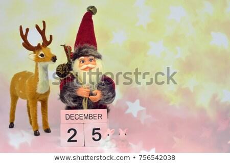 Piros pici csillámlás karácsony ajándék fa Stock fotó © Rob_Stark