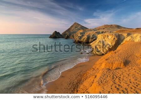 Praia la Colômbia caribbean mar paisagem Foto stock © jkraft5