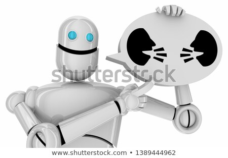 android with two chat bubbles stock photo © kirill_m