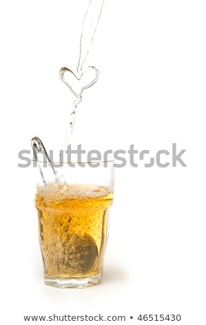 Teabag splashes isolated on a white background Stock photo © latent