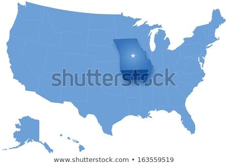 Carte États-Unis Missouri sur politique tous Photo stock © Istanbul2009
