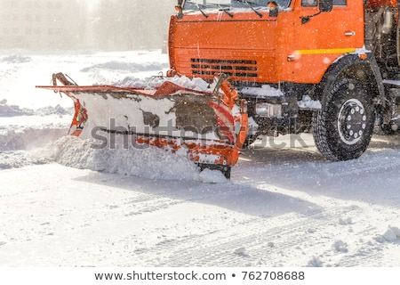 truck cleaning road in winter stock photo © aikon