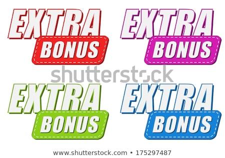 дополнительно бонус четыре цветами Этикетки дизайна Сток-фото © marinini