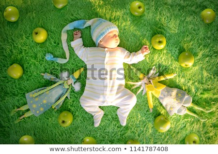 Cute three-day old baby boy asleep Stock photo © photobac