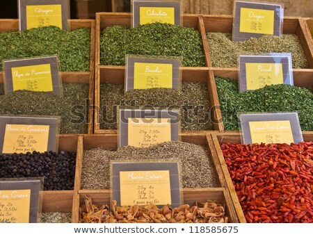 Tempero mercado temperos velho Foto stock © searagen