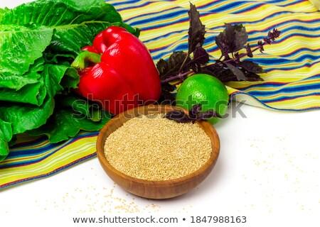Quinoa on green  tablecloth Stock photo © marimorena
