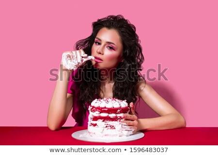 Nina rojo terciopelo ilustración vector Foto stock © derocz