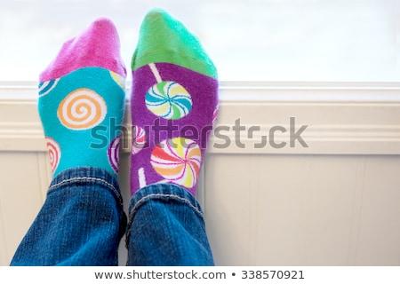 meias · criança · isolado · branco · roupa - foto stock © songbird