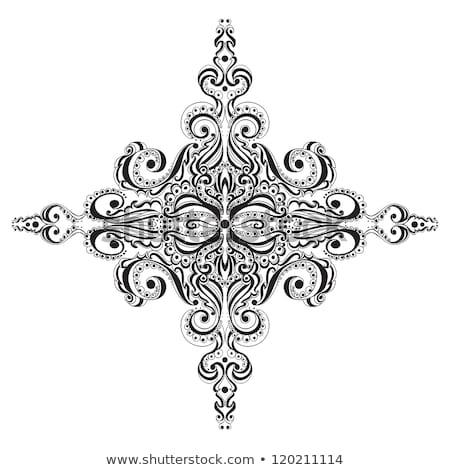 Christmas decorative lace ornament Stock photo © elenapro