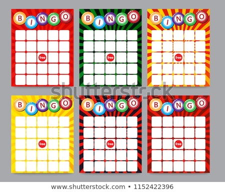 Bingo cartões dinheiro jogar desenho animado Foto stock © adrenalina