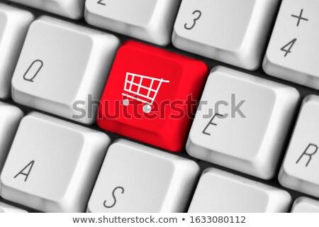 Inspiration on Red Keyboard Button. Stock photo © tashatuvango