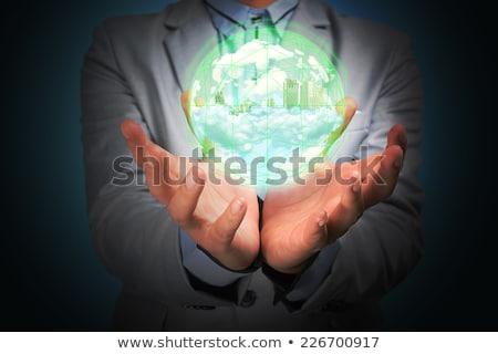 ビジネスマン · スーツ · ホールド · 地球 · アイコン · 要素 - ストックフォト © cherezoff