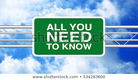 Ask An Expert on Green Highway Signpost. Stock photo © tashatuvango