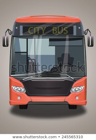 Red city bus. Tourist coach. Vector illustration Stock photo © leonido