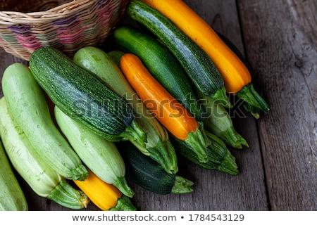 Bois plat vert fraîches ingrédient Photo stock © Freila