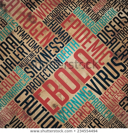 Ebola - Grunge Word Collage. Stock photo © tashatuvango