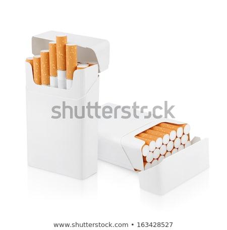 灰皿 · 孤立した · パス · タバコ · 白 - ストックフォト © givaga