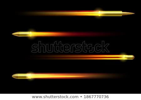 Battant brûlant bullet illustration noir feu Photo stock © m_pavlov