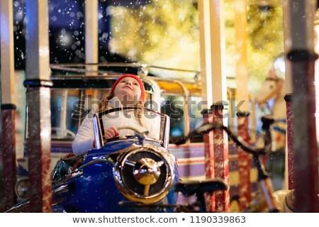 fair, amusement park winter season Stock photo © dimga