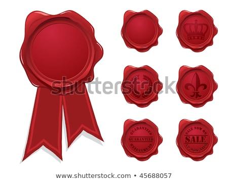 valósághű · piros · elegáns · szalag · izolált · ikon - stock fotó © m_pavlov