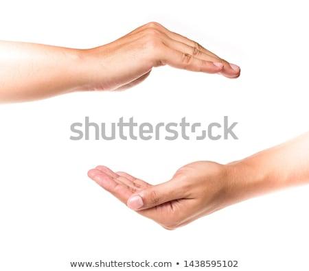 Hand bescherming gezwollen gezondheidszorg geneeskunde pijn Stockfoto © Klinker