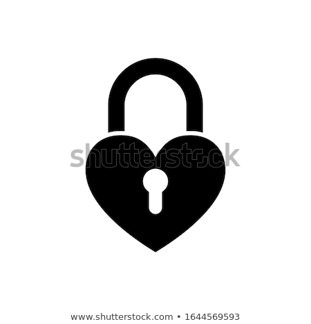 fechado · vermelho · cadeado · forma · coração · amor - foto stock © barbaraneveu