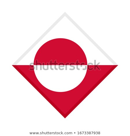 square metal button with flag of greenland stock photo © mikhailmishchenko