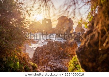 kayalar · uçurum · şehir · Portekiz · dünya - stok fotoğraf © compuinfoto