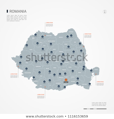 térkép · Romania · háttér · izolált · illusztráció - stock fotó © mayboro