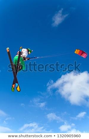 Kiteboarding on snow Stock photo © H2O