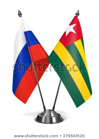 Rusia Togo miniatura banderas aislado blanco Foto stock © tashatuvango