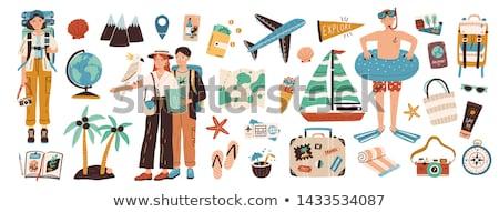 旅人 セット 必要 観光 地図 ストックフォト © sharpner