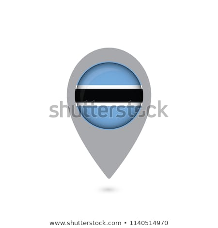 Map pins with flag of Botswana Stock photo © ojal