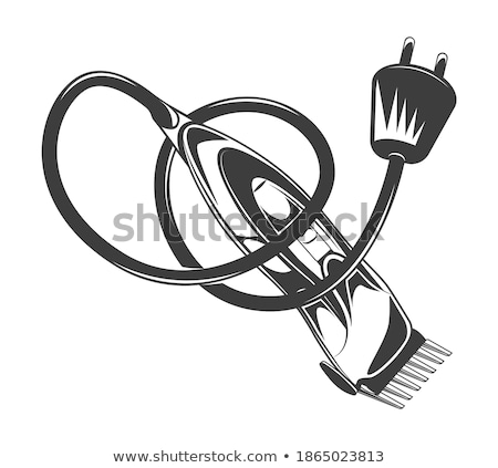 öreg · elektromos · borotva · technológia · fekete · bőr - stock fotó © hofmeester