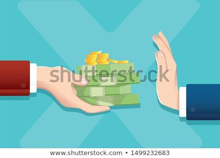 Refusing money Stock photo © fuzzbones0