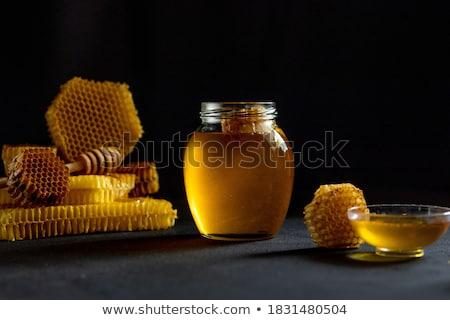 Méz méhsejt termékek textúra étel fa Stock fotó © jordanrusev