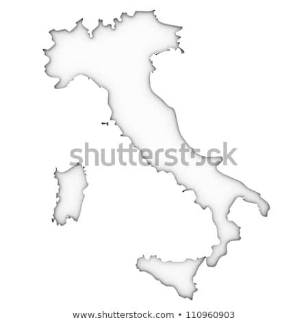 Stok fotoğraf: Harita · İtalya · dışarı · yalıtılmış · beyaz · mavi