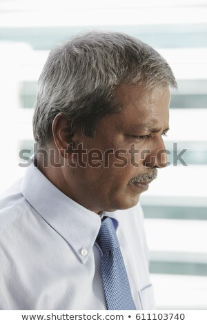 Сток-фото: Side View Mature Indian Businessman