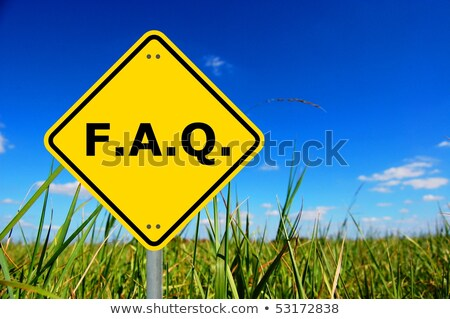 よくある質問 道路標識 黄色 道路 青 サービス ストックフォト © fuzzbones0