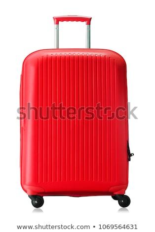 Piros utazás táska izolált fehér háttér Stock fotó © tetkoren