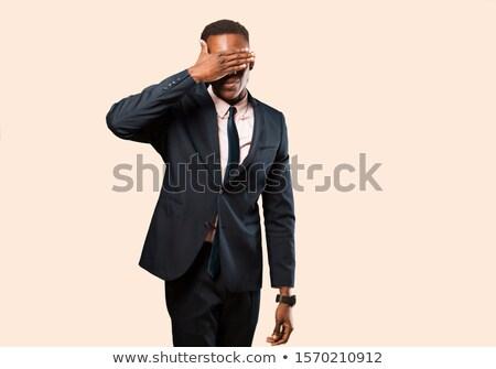 ciego · empresario · difícil · negocios · cara · hombre - foto stock © alphaspirit