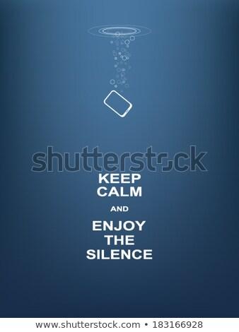 Silenzio poster retro carta testo tipografia Foto d'archivio © pashabo