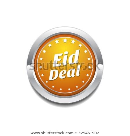 eid deal yellow vector icon button stock photo © rizwanali3d