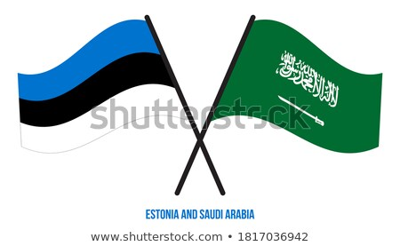Saudi Arabia and Estonia Flags Stock photo © Istanbul2009