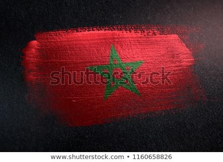 Marruecos país bandera mapa forma texto Foto stock © tony4urban