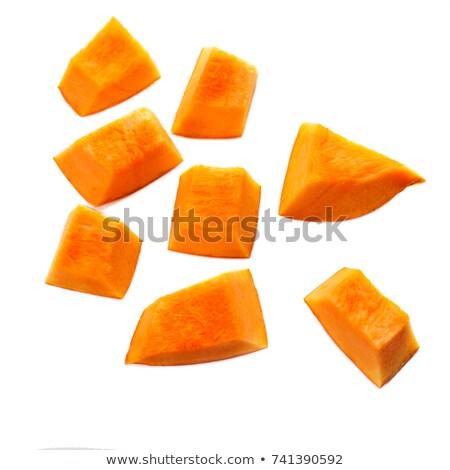 organic pumpkin sliced close up stock photo © oleksandro