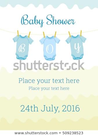 Baby doccia invito carta cartolina illustrazione Foto d'archivio © gigi_linquiet